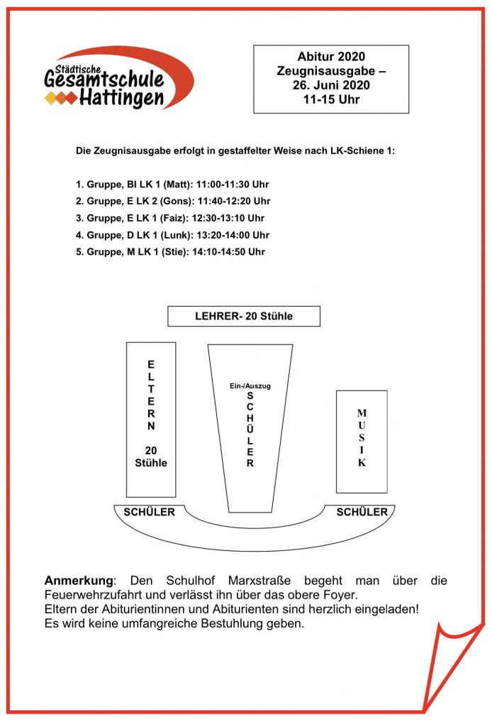 Abitur / Zeugnisausgabe / Entlassfeier Q2