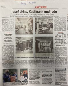 Josef Urias, Kaufmann und Jude (WAZ, 13.11.2020)