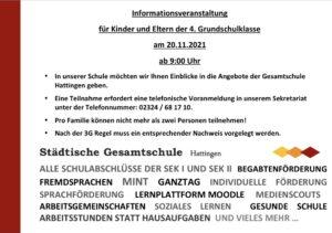 Informationstag am 20. November 2021 (neue 5er ab 2022/23)